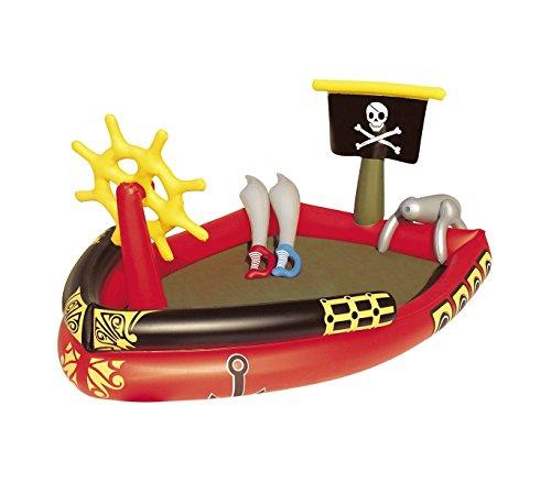 53041 Piscina Play Center Piratas con juegos y pistola de agua 190x140x96cm