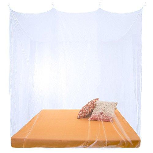 CelinaSun Moskitonetz, XXL Doppelbett Mückennetz, eckiger Bettvorhang rundum geschlossen,...
