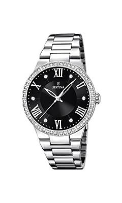 University Sports Press F16719/2 - Reloj de cuarzo para mujer, con correa de acero inoxidable, color plateado de University Sports Press
