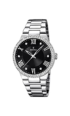 Festina Damen-Armbanduhr Analog Quarz Edelstahl F16719/2