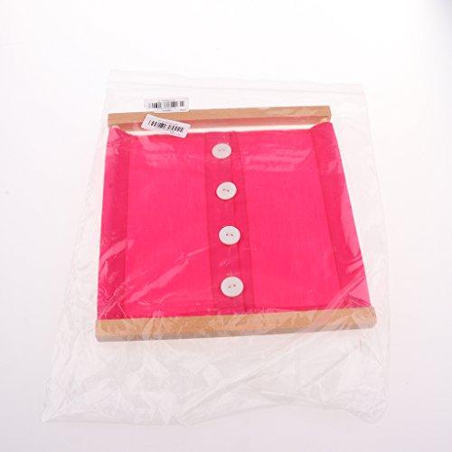 Gazechimp-Set-de-2-Piezas-Montessori-Materiales-Juguetes-Educativos-Diaria-Caja-de-Ropa-Zipper-y-Botn-para-Nios-de-Madera-y-Pao-Juguete-de-Inteligencia-de-Desarrollo