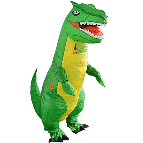 THEE Aufblasbare Kostüm Lustig Kostüm für Party Halloween Karneval Fastnacht Fasching Uniform Anzug ,Grün Dinosaurier