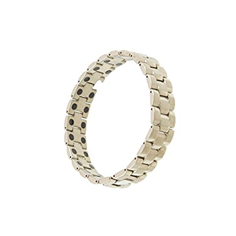 MJM Mens Titanium Magnetic Bracelet With Double 3000G Magnets In
