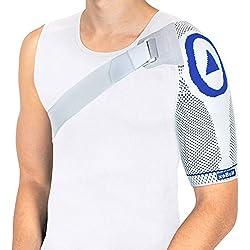 Nutrics | Aktiv Schulterbandage | Damen und Herren | Unterstützend am Schultergelenk | Designed in Germany (M, Linke Schulter)