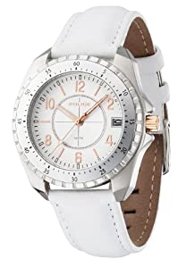 Reloj Police P13669MS-04 de cuarzo para mujer con correa de piel, color blanco