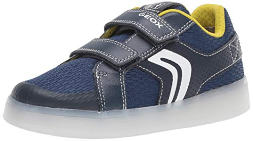 Geox J KOMMODOR Boy A, Zapatillas para Niños, Blue Navy/Lime C0749, 28 EU