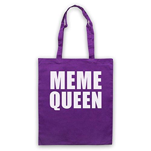 Meme Queen Meme Umhangetaschen Violett