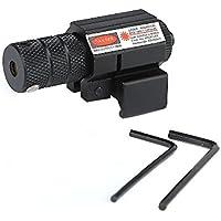 IRON JIA'S Mira telescópica Alcance (AT Punto Rojo, Láser Rojo, Visual Punto + Soporte 20mm, Alta Precisión y Porcentaje de Acierto), Negro