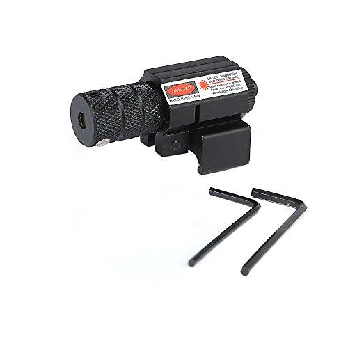 IRON JIA\'S Mira telescópica Alcance (AT Punto Rojo, Láser Rojo, Visual Punto + Soporte 20mm, Alta Precisión y Porcentaje de Acierto), Negro