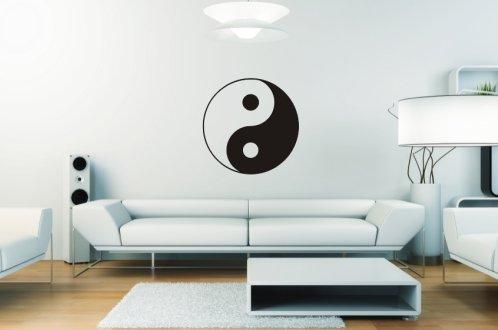 Wandtattoo Yin Yang 1 (einfarbig) 50x50 + Rakel von mldigitaldesign