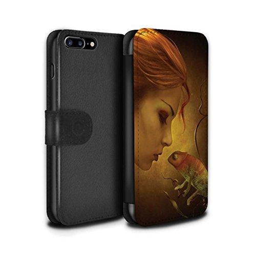 Officiel Elena Dudina Coque/Etui/Housse Cuir PU Case/Cover pour Apple iPhone 7 Plus / Pack 5pcs Design / Dragon Reptile Collection Cameleon