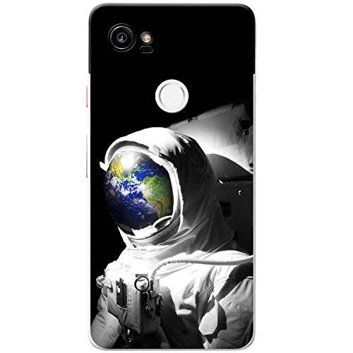 Astronautenanzug & Spiegelbild der Erde Hartschalenhülle Telefonhülle zum Aufstecken für Google Pixel XL 2