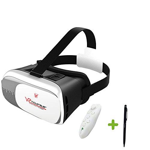 Victorstar @ vr scatola ii 3d vr occhiali con telecomando wireless bluetooth vr virtuale realta 3d auricolare video 3d gioco casco per 3,5-6 pollici smartphone ios android cellulari