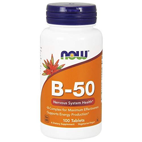 Now Foods, B-50 Vitamin-B-Komplex, 100 Tabletten - B-50 100 Tabletten