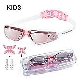 Snowledge Schwimmbrille Kinder Schwimmenbrille Leckfrei Antibeschlag Breite Ansicht UV-Schutz Schwimmen Brille