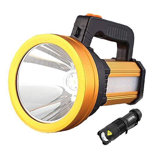 LED Rechargeable Handheld Searchlight Linterna Camping LED al aire libre, IPX4...
