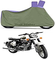 Bull Rider Two Wheeler Cover for Royal Enfield Classic 350 (Grey)