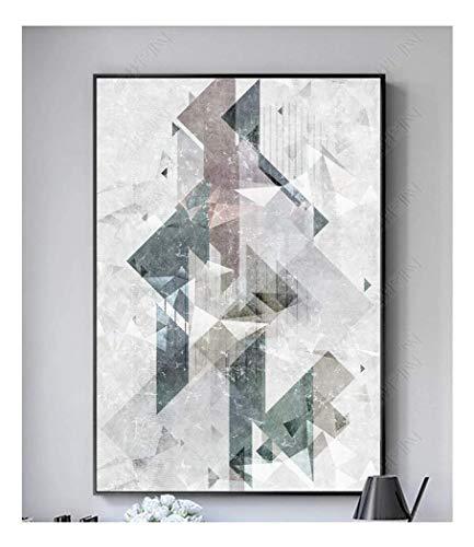 Zitrone Moderne Leinwand Malerei Kein Rahmen Wandkunst Bild Einfache Geometrische Muster Für Wohnzimmer Dekoration Bild (Größe : 70x100 cm)
