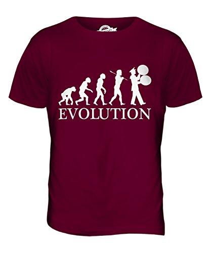 CandyMix Marching Band Spielmannszug Evolution Des Menschen Herren T Shirt Burgunderrot