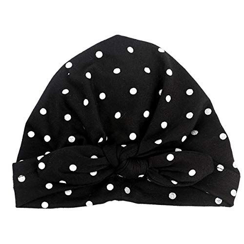 d8748afc4 puseky Infant Toddler Baby Girls Tie Bowknot Indian Hat Niños lunares  Imprimir Conejo Ear Beanie Cap (Color : Black, Size : 1-2 Year)