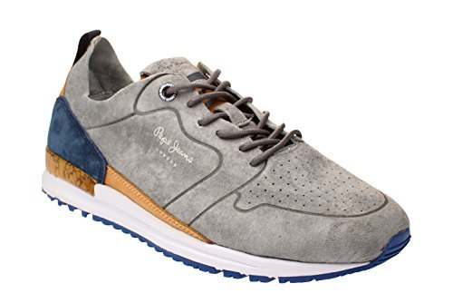 81e3472d9b48 Pepe Jeans London PMS30411 Blue Men Sneakers Chaussure Casual Sport - Grey