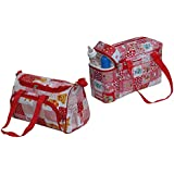 Annapurna Sales Baby Diaper Bag With Bottle Warmers Or Baby Diaper Bag For Mother Or Nappy Changing Bag With 2 Bottle Warmers Combo Set Of 2 Pcs. - Red (Unisex)