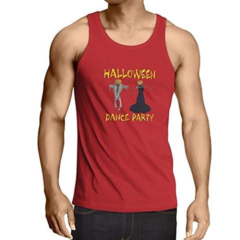 Party Invitations Costume Gratuit - N4028V Singlete Fête d'Halloween (Small Rouge