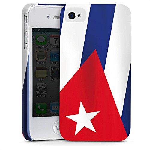 DeinDesign Apple iPhone 4 Hülle Premium Case Cover Kuba Flagge Fahne