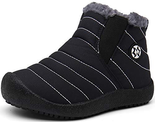 Gaatpot Boy's Girl's Snow Boots Winter Warm Sneakers Waterproof Outdoor Fur Lined Ankle Booties Shoes (Little Kid/Big Kid)