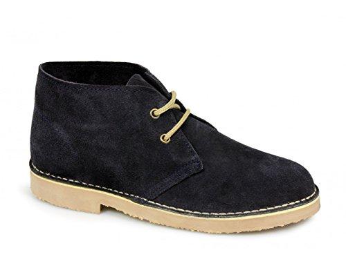Unisex Desert Boots In Camoscio Blu (Blu navy)