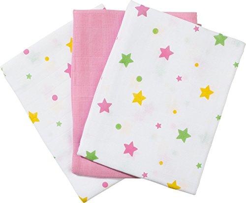 Baby Butt Mulltücher 3er-Pack rosa