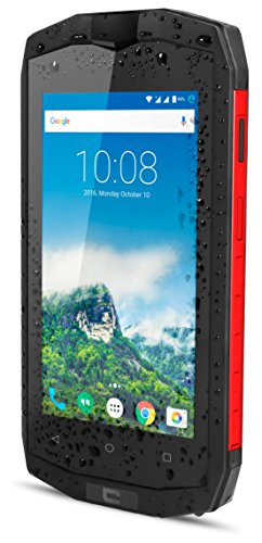 Crosscall Trekker M1Core Smartphone libre 4G (pantalla: 4,5pulgadas–16GB–doble micro-SIM–Android) negro/rojo