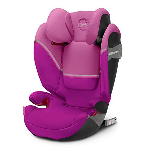 CYBEX Gold Kinder-Autositz Solution S-Fix, Für Autos mit und ohne ISOFIX, Gruppe 2/3 (15-36 kg), Ab ca. 3 bis ca. 12 Jahre, Magnolia Pink