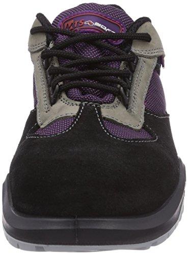 MTS Sicherheitsschuhe M-soft Aurelie S2 46804, Chaussures de sécurité femme Noir - Schwarz (schwarz/lila/beige)