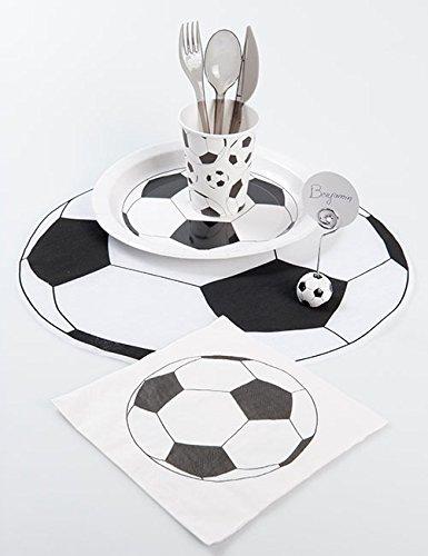 NEU Platzmatte Fußball, Ø 34 cm, 6 Stück im Beutel - 2