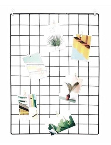 Eisen Gitter der Foto Wand einfache Dekoration Plaid kreative Memo an der Wand Hängen in der Familie, Küche, Büro und so weiter(Schwarz, 65 * 45cm)/DIY