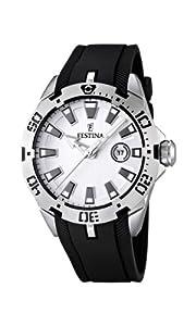 Reloj Festina F16671/1 de cuarzo para hombre con correa de caucho, color negro de FESTINA