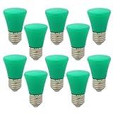 10 Stück E27 Grün Glühlampen Lampe Farbig Birne Beleuchtung Glühbirne Bunt Dekoration Leuchtmittel Für Partybeleuchtung Biergartenbeleuchtung
