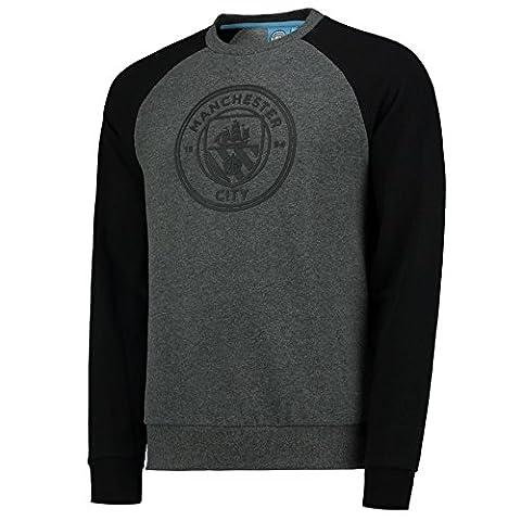 Manchester City Mens Gents Football Classic Raglan Sweatshirt Top -