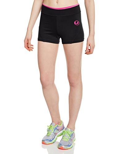 Ultrasport 10321 - Pantalón corto para mujer, color negro / rosa, tal