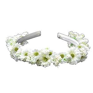 El celibato 97299441.001 - improvisada Haarreif con Flores Blancas Flores Artificiales