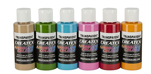 Createx Farbe Farben-/Bratenspritze ab Primary Set Airbrush Tropisches Set multi