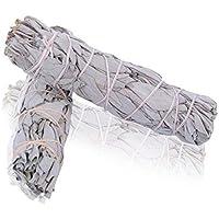 lot de 2 -- Batonnets de Sauge blanche - - batons / empaqueter / ballot / Encens WHITE SAGE 2 x sMALL Smudge 4-4.5'' (~12cm, ~20gr.)
