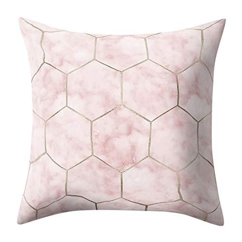 BOLANQ Funda de Almohada Textura de mármol geométrico, Funda ...