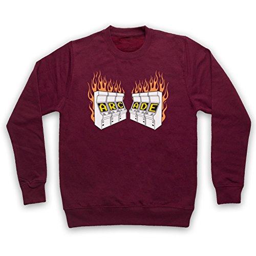 The Guns Of Brixton Arcade Fire Retro Gaming Machine Logo Sweat-Shirt des Adultes