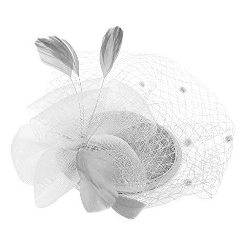 bloatboy  Feder Fascinators Hut Damen Ahorn Blatt Mesh Hochzeit Braut Elegant Fascinator Haarreif Cocktail Tee Party Damen Fasching Kostüm Accessoires - Zeigen Sie Mädchen Kostüm