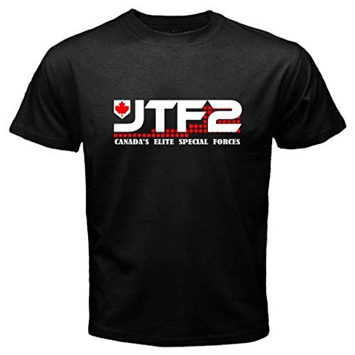 e74897fedade09 Mens JTF2 Canadian Special Ops Force Army Military Black Tee Shirt Round  Neck Cotton T-Shirt Short Sleeves Bottoming Tops Clothing
