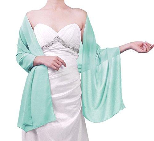 Beyonddress Damen Trend Fashion Schal Cape Wraps Sheer weichen Chiffon Braut-Shawl für Besondere...