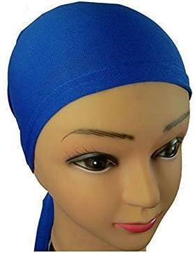 KAUFEN SIE 2 ERHALTEN SIE 1 FREI unter Schal Mütze Riegel Rückseiten Kappe für Hijab Kopf-Schal Chemo Hut