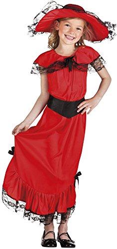 Boland / Kinderkostüm Scarlett, Größe 128/134 (Scarletts Rotes Kleid Kostüm)